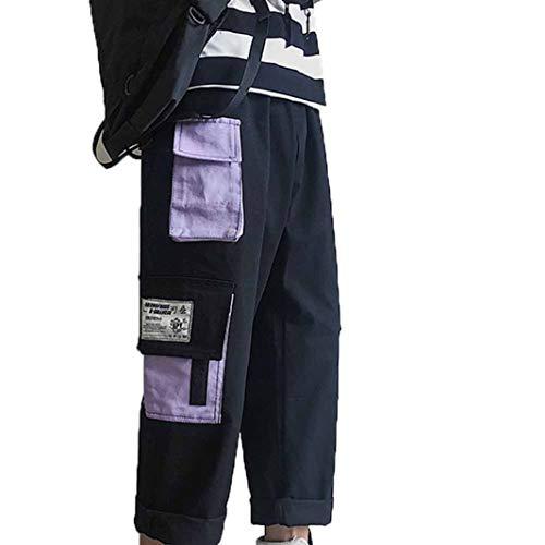 Lässige Overalls für Herren Straight Handsome Loose Streetwear Stitching Pocket Hip Hop Harajuku Style Kurzhose