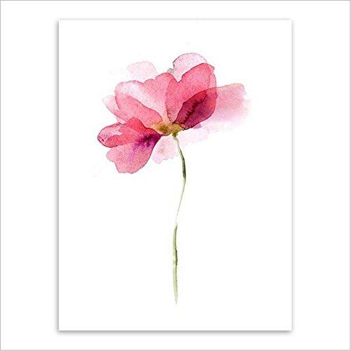 MINRAN DECOR B Pintura de Pared Impresión de Flores de Plantas de Acuarela Moderna de Lona Arte Decoración Salón Oficina Regalo - 610243, 3, 40X60cm