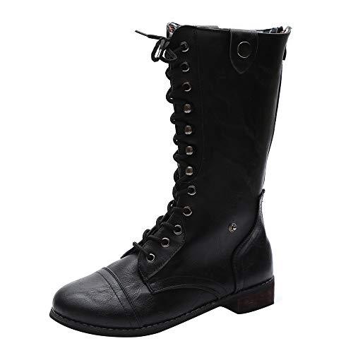 JERFER Frauen Punk Gothic Style Stiefel Damen Schuhe Kurze Street Boots