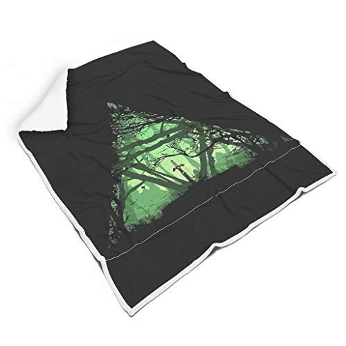 NC83 Blanket Gree Schwert-Zelda thema's gedrukt Sherpa oversized deken - spel Love Black Super gezellig Past cadeautje gebruiken