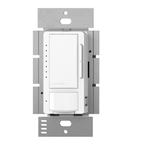 Lutron Maestro LED+ Vacancy Sensor Dimmer Switch | Single-Pole/Multi-Location | MSCL-VP153M-WH | White
