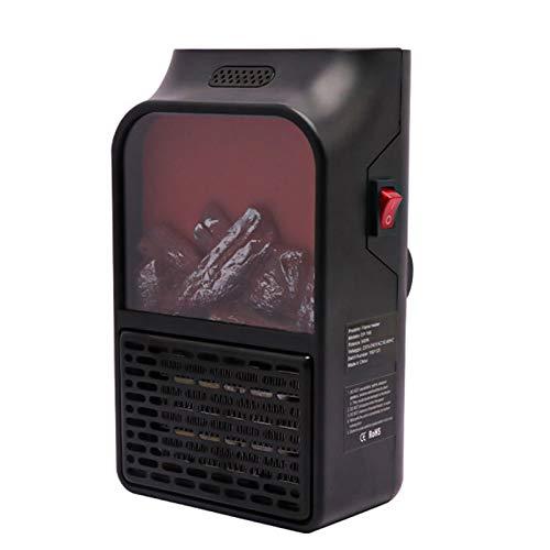 Jiangpan Calentador eléctrico portátil mini calentador de pared de carbón falso práctico...