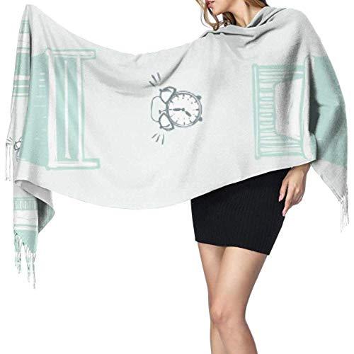 Kevin-Shop 27 'x 77' vrouwen wikkelen sjaal compact wekker weak up tool kasjaal dames sjaal wrap stijlvolle grote warme deken