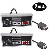 Gollec - Juego de 2 mandos a Distancia para Nintendo NES Mini Edition (Cable clásico, 10 pies), Color Gris y Gris