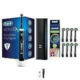 Oral-B Genius X Elektrische Zahnbürste/Electric Toothbrush mit künstlicher Intelligenz, Putztechnikerkennung & Bluetooth-App, 6 Putzprogramme, Lade-Reiseetui, midnight schwarz