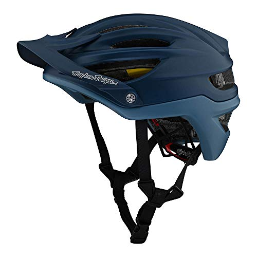 Troy Lee Designs Adulto   All Mountain   Casco de bicicleta de montaña Half Shell A2 señuelo W/MIPS (azul ahumado, XL/XXL)