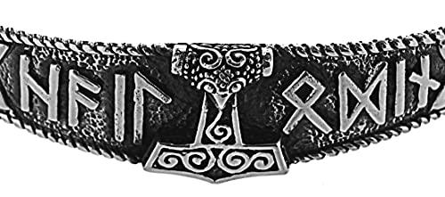 Pulsera con martillo de Thor de plata de ley 925 n.º 1