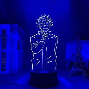 3D Night Light for Teens,Anime Jujutsu Led Satoru& Gojo Lamp for Bedroom Decor Gift for Birthday/Xmas Gift-Colorful Change