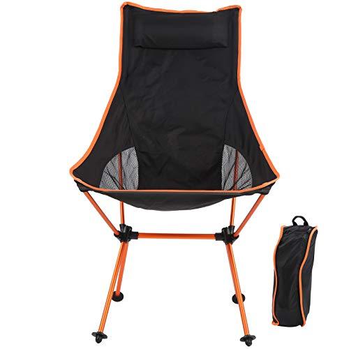 Draagbare Campingstoel Compacte Ultralichte Klapstoel met Oxford Stoffen Tas, Sponskussen, 150 Kg Draagvermogen, voor Vissen, Kamperen, Bergbeklimmen, Reizen over Lange Afstanden