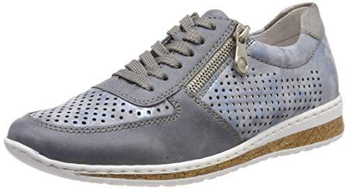 Rieker Damen N5122-12 Sneaker, Blau (Adria/Heaven/Grey 12), 40 EU