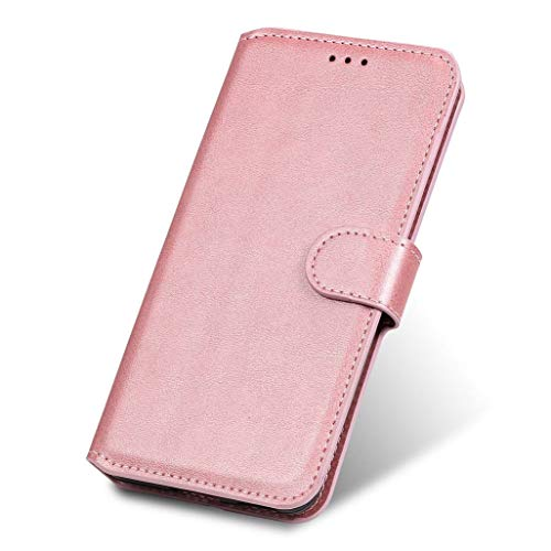 GOGME Hülle für Oppo Reno 4 Pro 5G (Oppo Reno4 Pro 5G) Hülle, Handyhülle Flip Hülle Brieftasche Schutzhülle, Premium Leder mit Ständer Funktion und Kartenfach und Magnetic Snap Cover, Rosa