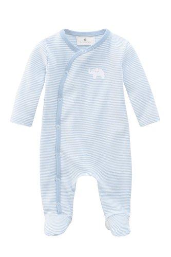 Bellybutton Kids Baby - Jungen Strampler Bellybutton Kids Schlafstrampler mit Fuß, 10892-90624, Gr. 74, Mehrfarbig (white/light blue striped)