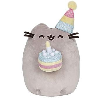GUND Pusheen Birthday Cake Plush Stuffed Animal Cat 9.5