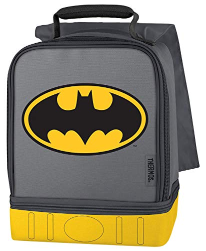 Thermos Batman Dual Compartment Soft Lunch Kit w/ Attached Grey Cape