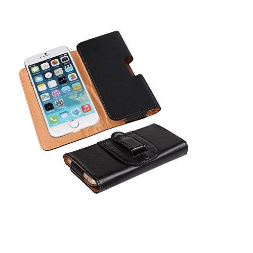 K-S-Trade Schütz-Hülle Handy-Hülle Kompatibel Mit BlackBerry KEY2 (Dual-SIM) Holster Gürtel-Tasche Schutzhülle Handy-Tasche Smartphone Hülle Seitentasche Schwarz 1x
