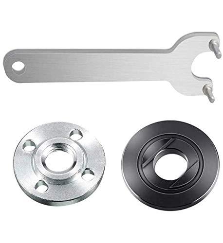 "SZMWL Angle Grinder Flange Wrench Spanner Metal Lock Nut Kit For Dewalt Makita Milwaukee 193465-4 Bosch Black & Decker Ryobi 4.5"" 5"" 5/8-11"