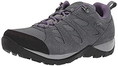 Columbia womens Redmond V2 Waterproof Hiking Shoe, Ti Grey Steel/Plum Purple, 8.5 US
