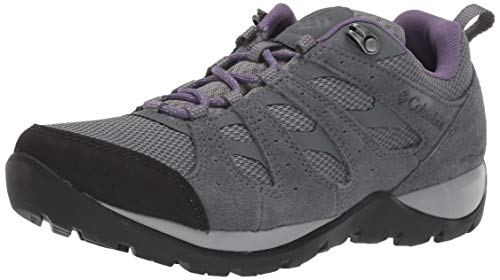 Columbia Women's Redmond V2 Waterproof Hiking Shoe, Ti Grey Steel/Plum Purple, 9.5