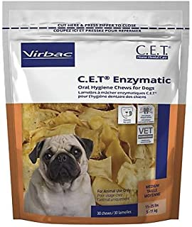Virbac C.E.T. Enzymatic Oral Hygiene Chews for Small-Medium Dogs (11-25 Pounds)