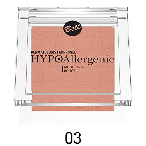 Colorete de maquillaje Bell, hipoalergénico, n.º 03. Dermatológicamente testado.