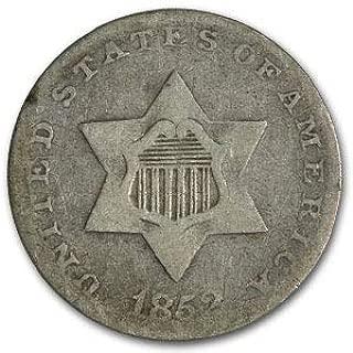 1852 Three Cent Silver Fine Cent Fine