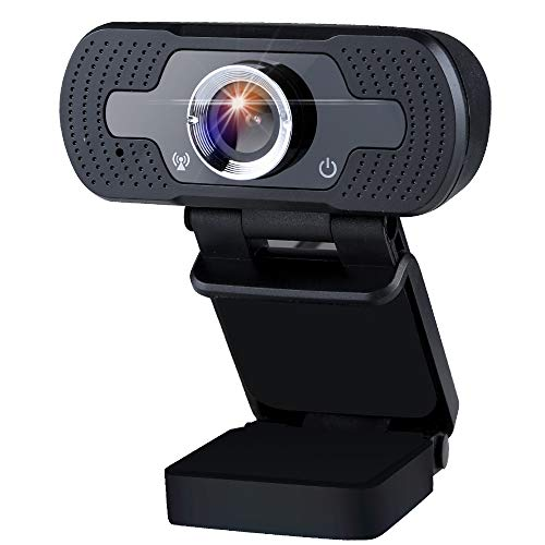 infinitoo Webcam 1080P Full HD mit Mikrofon, Autofokus USB Kamera Facecam Webkamera, PC/Xbox One/Mac/ChromeOS/Android, Schwarz
