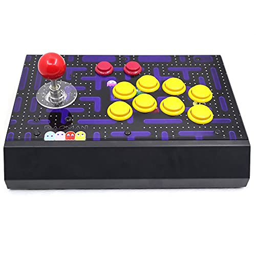 jiasHome DINGSONGYANG RAC-S300 Retro Arcade Game Console 64g / 128g Joystick Fighting Stick Case Metal Acrylic Panel A2 (Color : 64G)