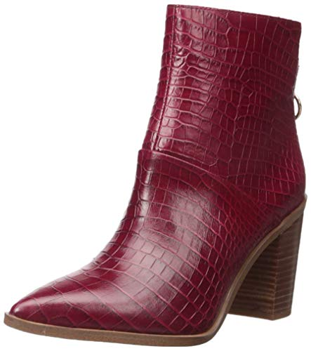 Franco Sarto Women's Mack Ankle Boot, Wine Crocodile, 9.5 M US