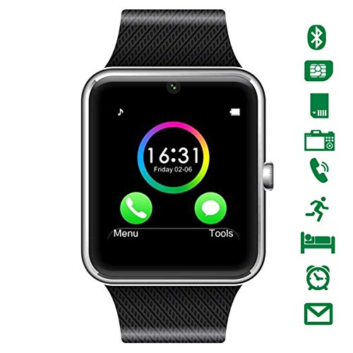 CHEREEKI Curved Screen Smartwatch, Bluetooth Smart Watch with Soft...
