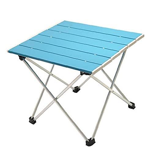 finebrand Acampar Mesa Plegable Portable De La Pesca De Picnic Tabla Ligera Barbacoa Mesa De Aluminio Azul Patio Mesa De Picnic Y Presidente