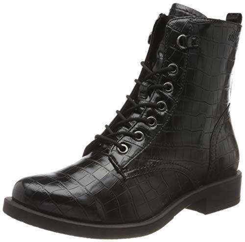 s.Oliver Damen 5-5-25122-25 Stiefelette, Black Croco, 38 EU