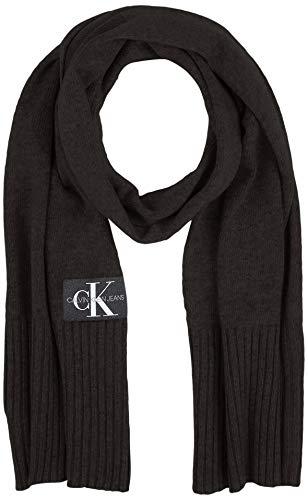 Calvin Klein Herren J BASIC MEN KNITTED SCARF Schal, Schwarz (BLACK BAE), One Size (Herstellergröße:OS)