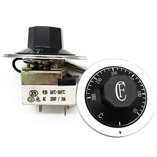 MAGELIYA Controlador de Temperatura Interruptor de termostato Perilla de termostato Ajustable 50-300 ° C Interruptor de Control mecánico