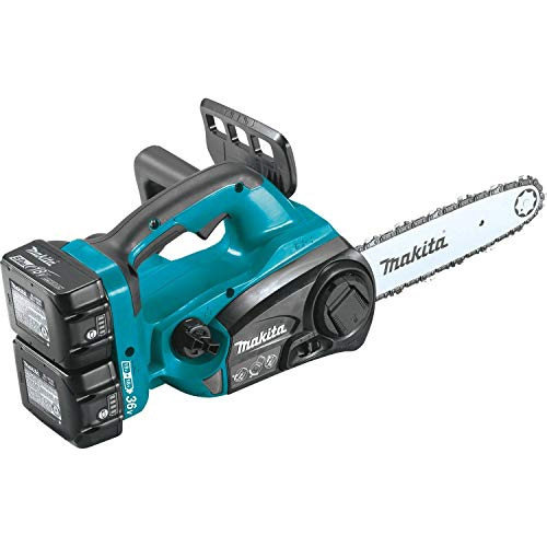 "Makita XCU02PT1 18V X2 (36V) LXT Lithium-Ion Cordless 12"" Chain Saw Kit with 4 Batteries (5.0Ah)"