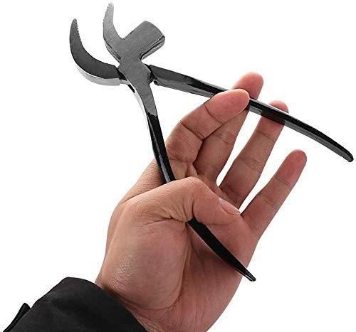 Alicates de zapatero de acero Alicates con martillo para la fabricación de calzado Artesanía de cuero Herramienta de trabajo de bricolaje Podadoras de calzado Alicates de reparación de pico