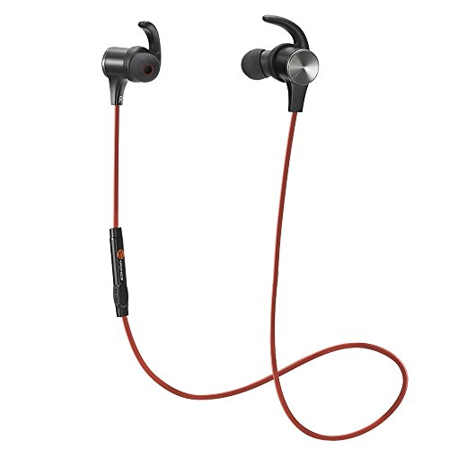 Auricolari Bluetooth Magnetici, TaoTronics Cuffie Sportive Wireless Stereo ( Bluetooth 4.1, IPX5, aptX, A2DP, Microfono Incorporato, CVC 6.0 ) per iPhone, Galaxy, Tablet, MP3, ecc. - Nero