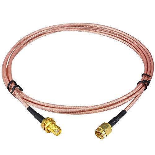 Kaunosta Cable alargador de antena de radio (1 m, conector SMA macho a hembra SMA, RG316, baja pérdida, para sistema de seguridad HT SDR-Dongle, extensión de antena