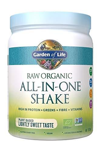 Garden of Life Raw All-in-One Shake, Lightly Sweet Taste, 519g