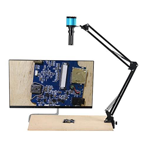 Microscopio De Vídeo Digital 48MP, USB/HDMI 1080P 2K Industrial De Laboratorio De Soldadura Microscopio Cámara con Lente Iris Zoom 120x para La Reparación De PCB
