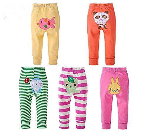 Monvecle Unisex Baby Multi Stuks Pasgeboren naar Peuter Katoen Leggings Lange Broek Shorts Gift Set