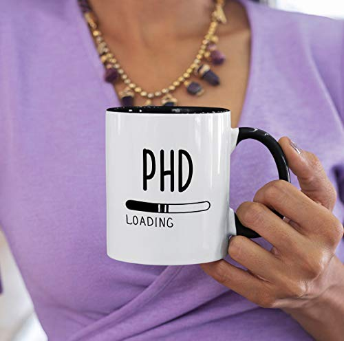 Phd Student | Phd Graduation Gifts | Phd Gifts | Phd Mug | Doctorate Student | Phd | Phd Loading | Funny Phd Graduating Gifts | Phd Student White Ceramic 11 Oz Travel Coffee Tea Mugs Cups