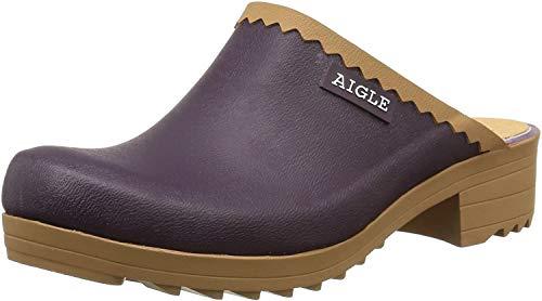 Aigle Damen Clogs Clogs Victorine Sabot Gummistiefel, Violett (aubergine/n C), 39 (Herstellergröße: 39)