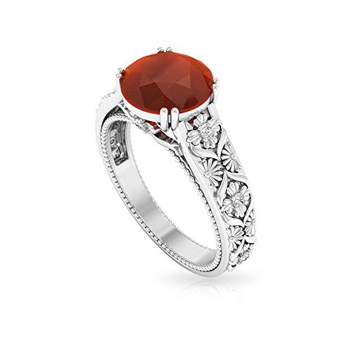 Rosec Jewels 18k oro amarillo redonda Red Diamond ónice rojo
