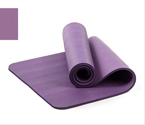 Yoga Mat met gratis draagtouw 183 * 61cm Anti-slip Dik Pad Fitness Pilates Mat voor Outdoor Gym 183x61cm Paars