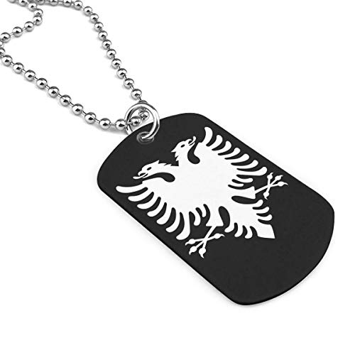 Albanian Eagle Military Necklace Dog Tag Pendant Jewelry Necklace