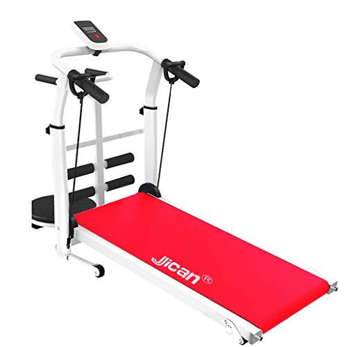 Treadmills Treadmill Folding Machine Tilt Fitness Treadmill Multi-Function Weight Loss Aerobic Walking Treadmill (Color : Red, Size : 115x52x110cm)