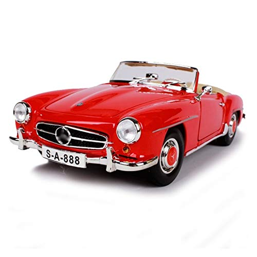 ZCLY 1:18 Aleación para Mercedes 1955 190SL Retro Modelo De Coche Decoración De Coche Colección Regalo Niños Niñas Adultos Regalo Modelo de Auto