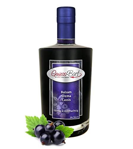 Balsamico Creme Cassis 0,35L 3% Säure mit original Crema di Aceto Balsamico di Modena IGP