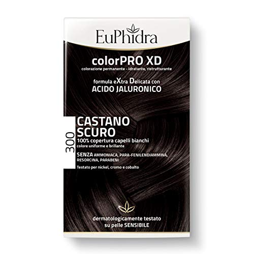 Euphidra ColorPro XD, 300 Castano Scuro, Gel Colorante - 50 ml, Base con Acido - 50, Balsamo - 20 - Totale: 120 gr