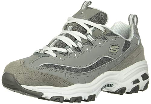Skechers Women's D'Lites Me Time Low-Top Sneakers, Grey (Gyw), 8 UK 41 EU